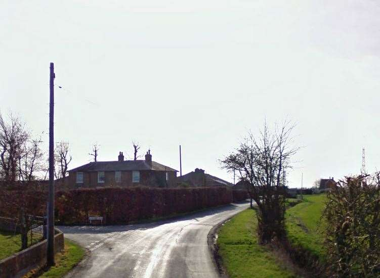 Newchurch Lane, Romney Marsh, near where the crash happened. Picture: Google Street View