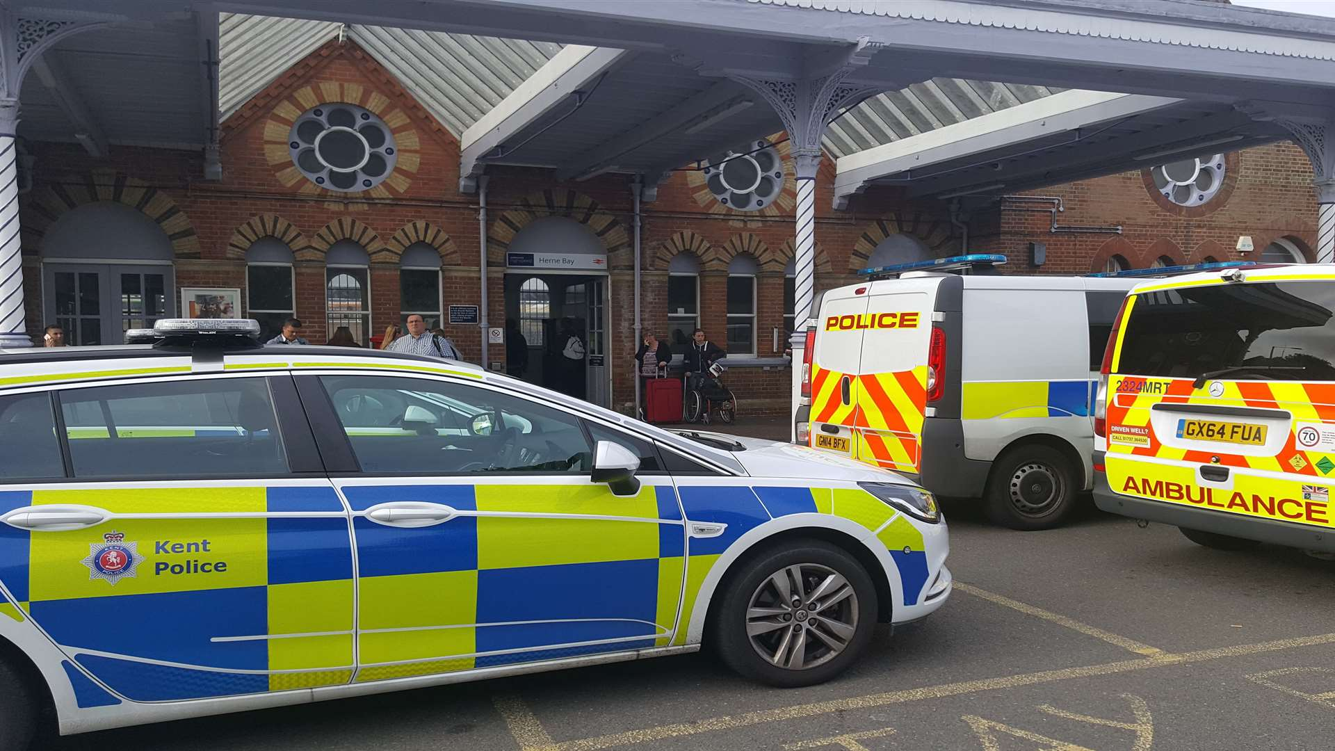 Police were called to the train station just before 7am