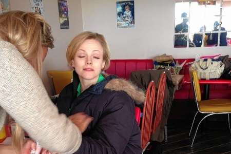 Actress Maxine Peake at Nell's Cafe, Gravesend