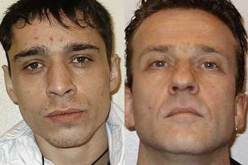 Prisoners Shaine Tester, left, and Sean Horsley