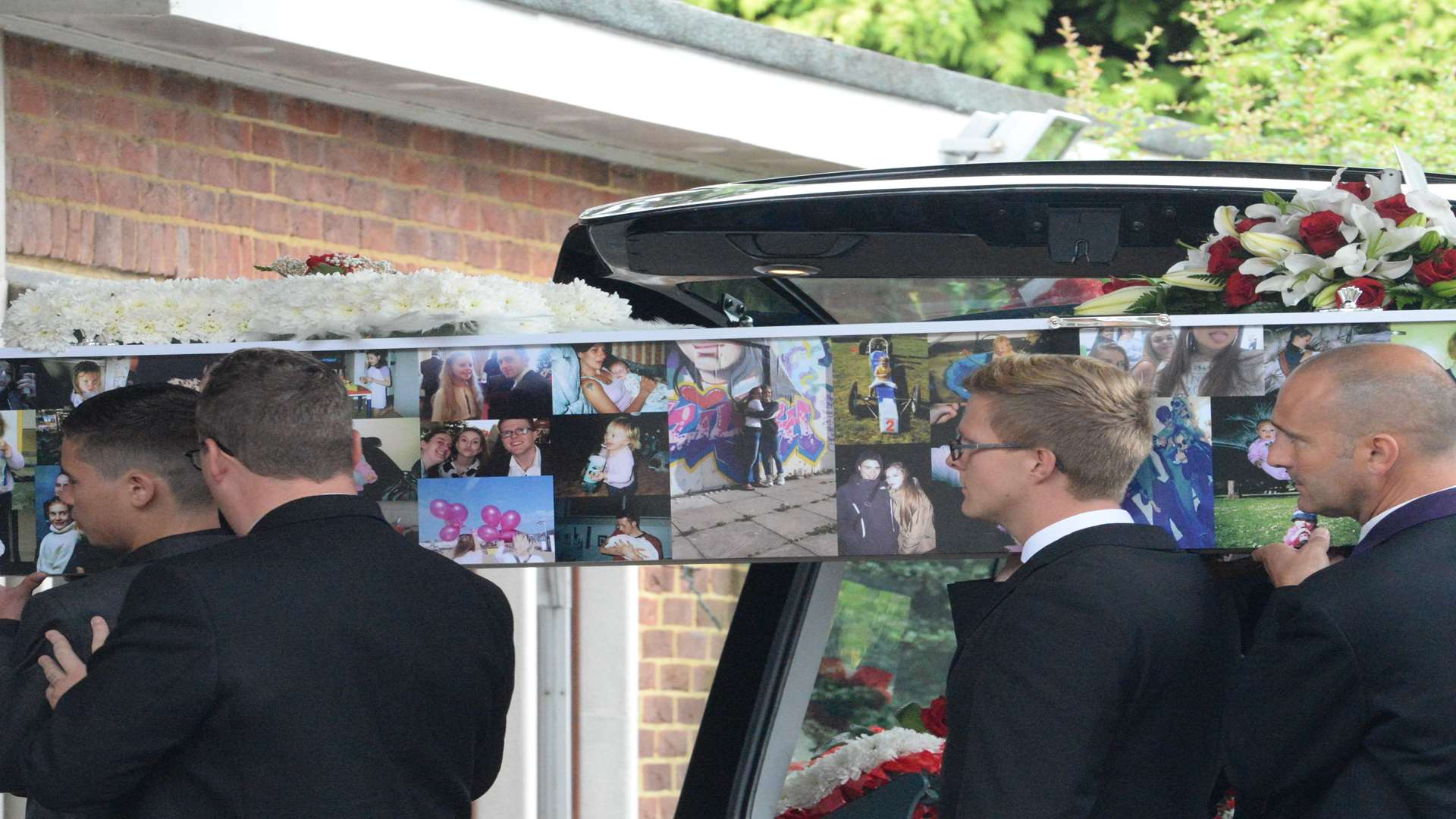 Taiyah's coffin was covered in photographs