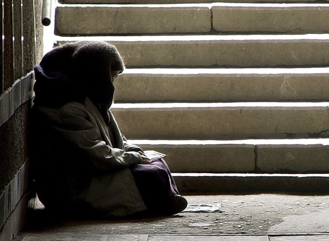 Homelessness is prevalent in many parts of Kent. Library image
