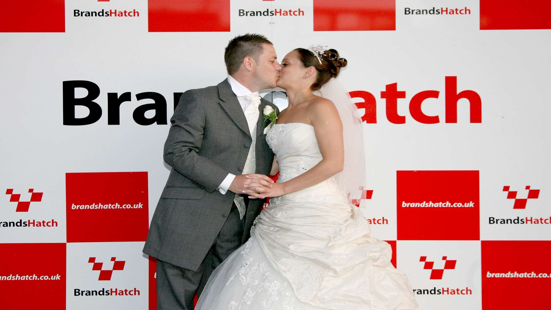 A happily married couple on the Brands Hatch podium