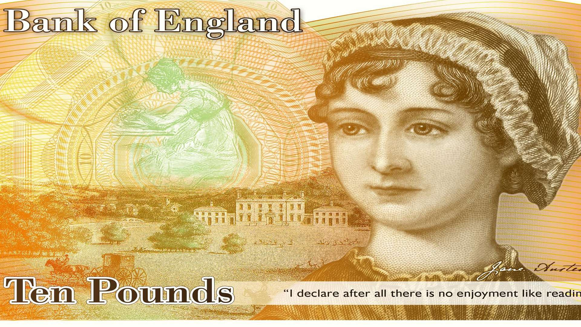 Jane Austen features on the new £10
