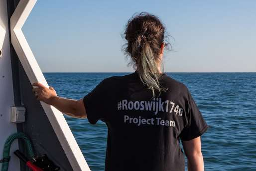 A member of the Rooswijk archaeological team. Picture courtesy of Historic England