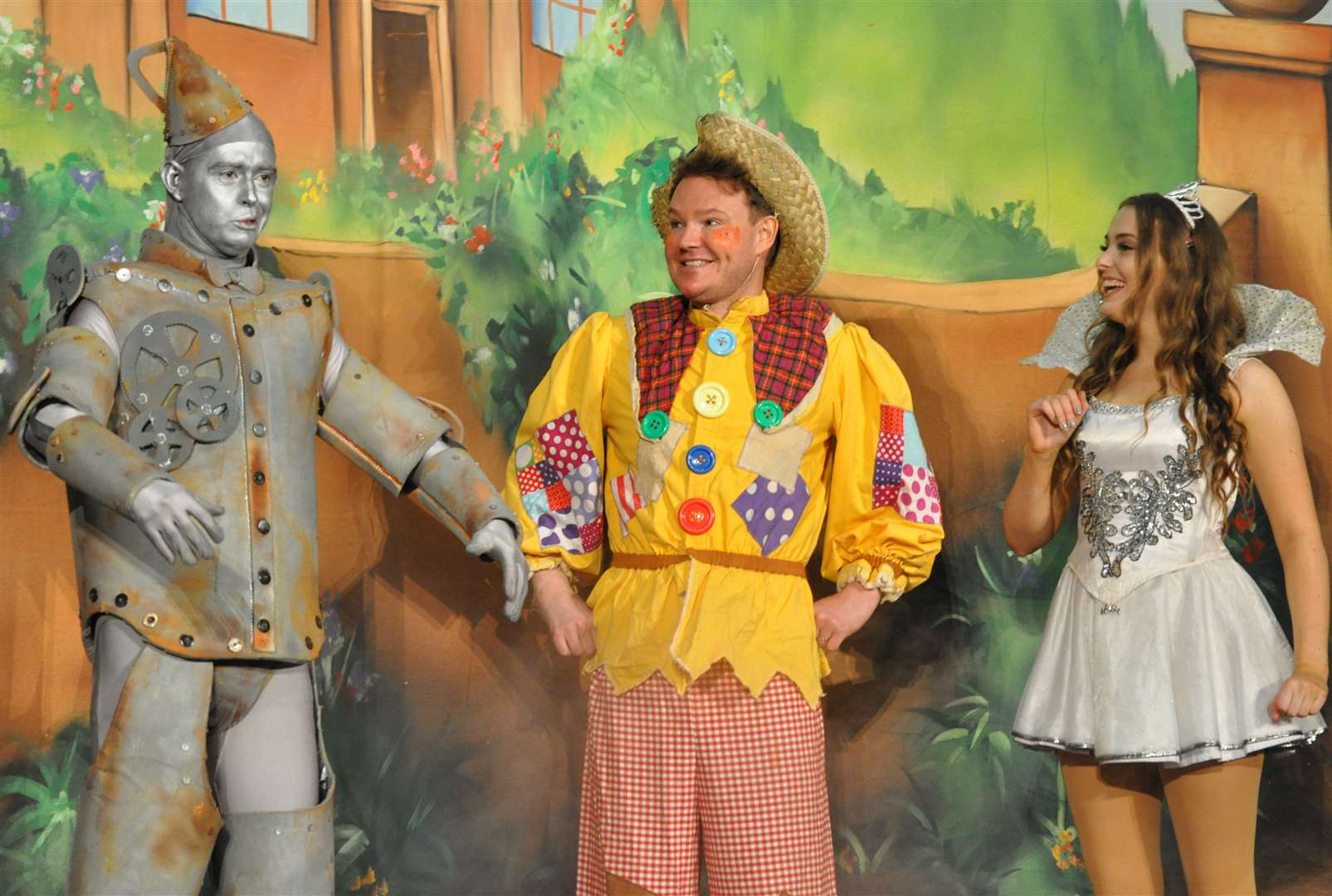 Tin Man, Scarecrow and Glinda the Good Fairy from the Wizard of Oz. Picture: Trio Entertainment