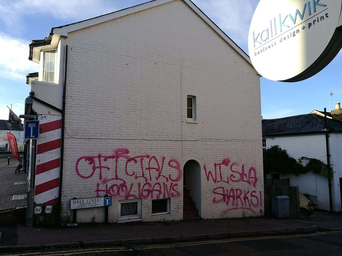 The graffiti was plastered over Tunbridge Wells. Credit: Caroline Auckland