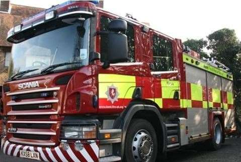 Fire fighters were called to Chatham Docks at around 6.30am