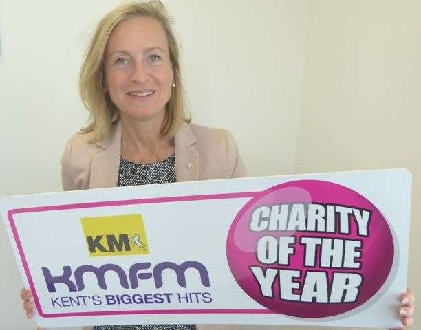 KM Group chairman Geraldine Allinson promoting the charity of the year scheme (15504767)