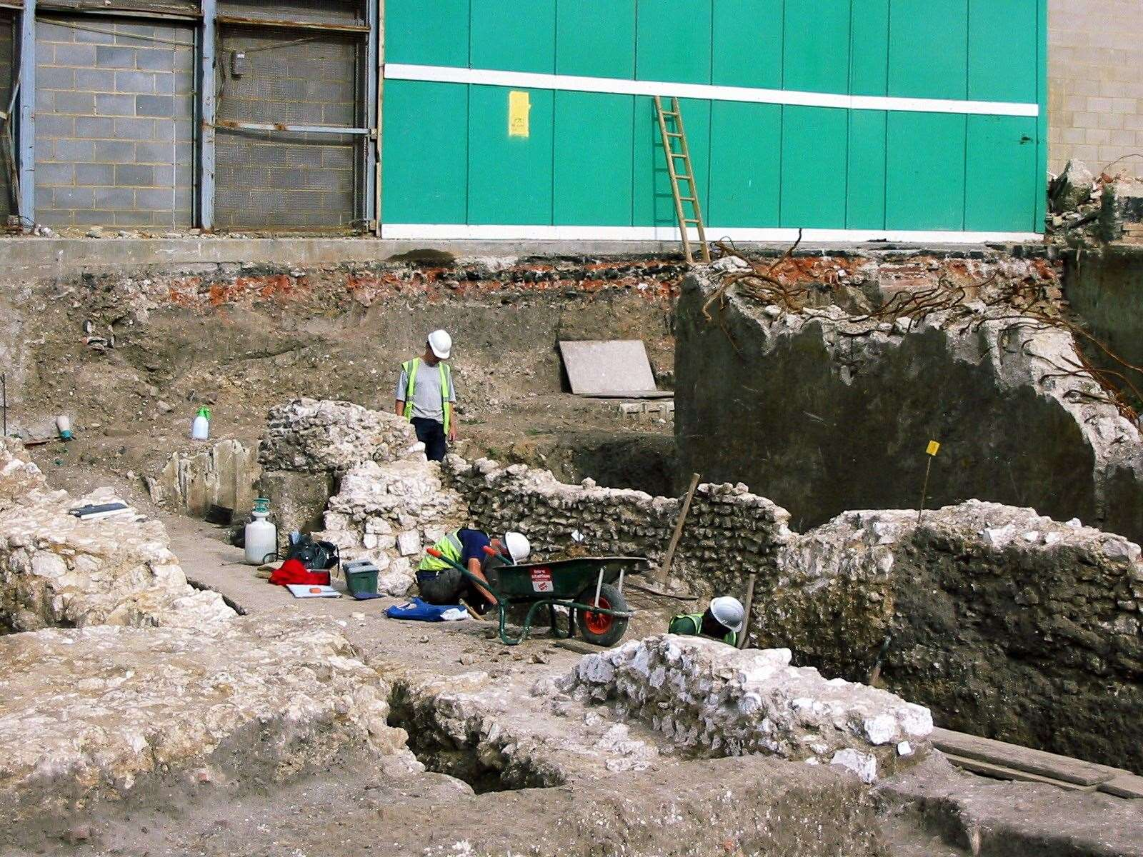 Archaeologists working on the Whitefriars dig on the site of the old Ricemans store