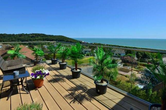 You can see France from the balcony on a clear day. Picture: Zoopla / Miles & Barr