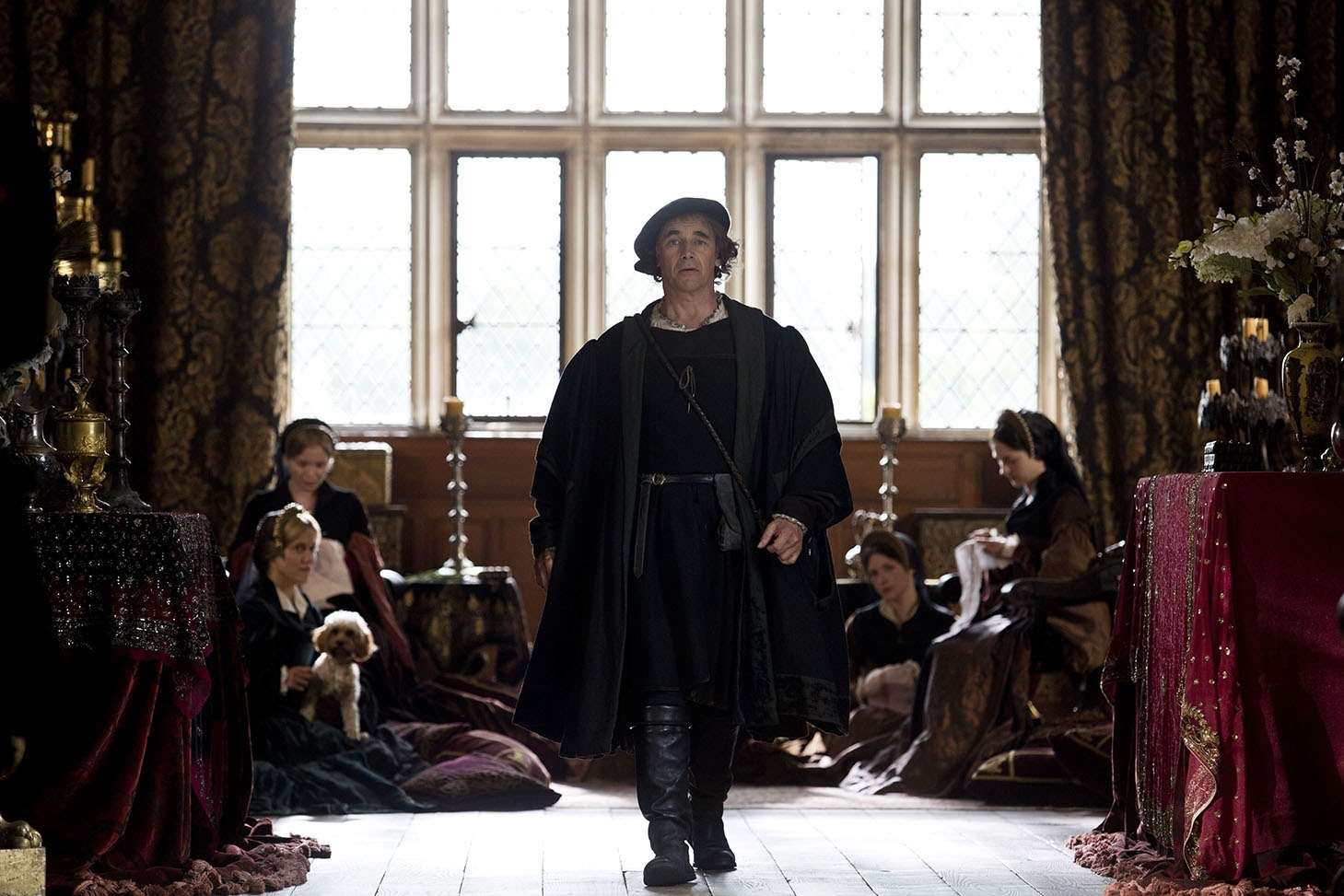 Mark Rylance, as Cromwell, filmed a number of scenes at Penshurst Place