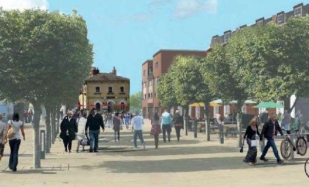 What the Otterpool Park 'local centres' could look like. Picture: Arcadis Design and Access statement