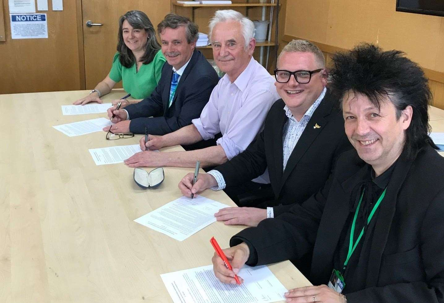 Members of Swale council's new coalition administration