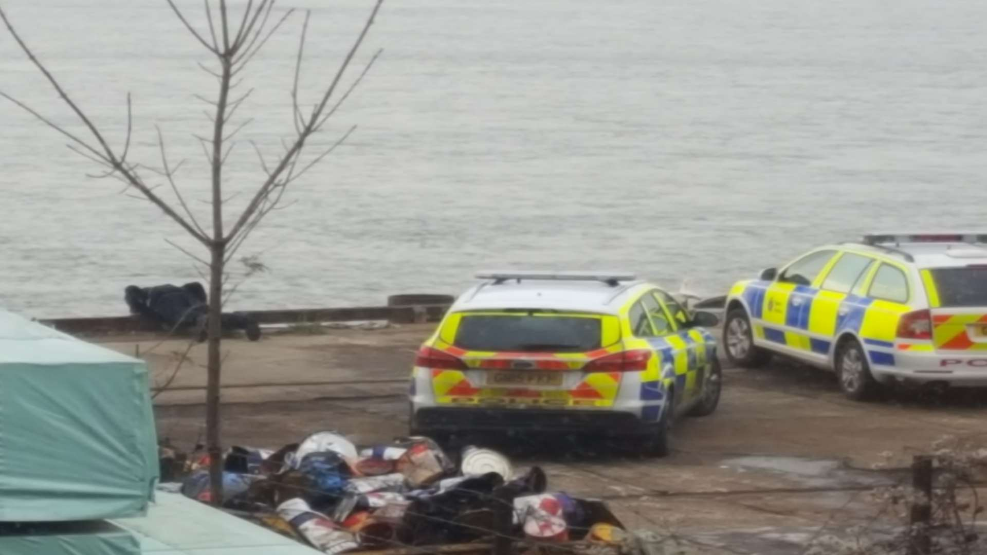 There is a police presence near the Acorn Shipyard. Picture: Peter Fowler