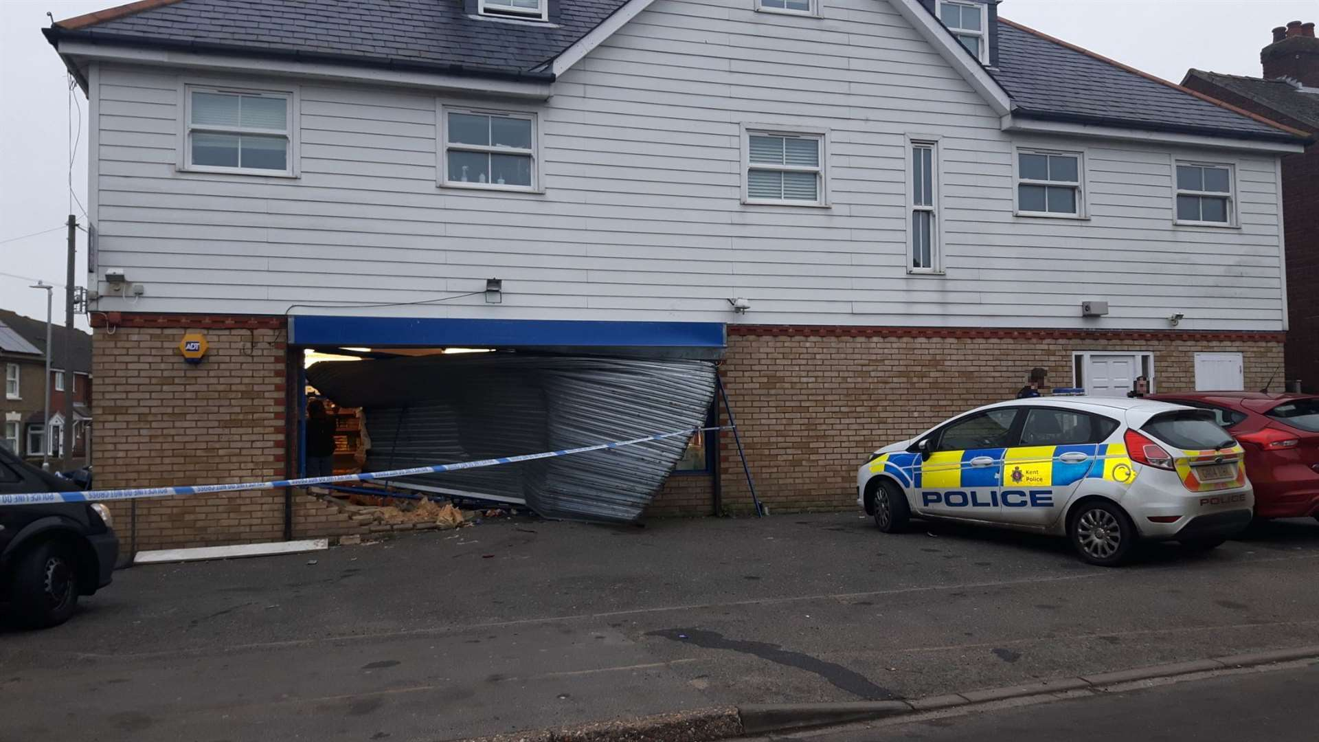 A vehicle smashed into the shop at Orchard Avenue, Deal