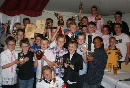 Sheppey juniors' rugby presentation