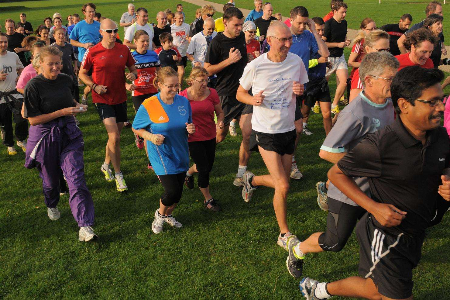 The first Parkrun at the Great Lines Heritage Park