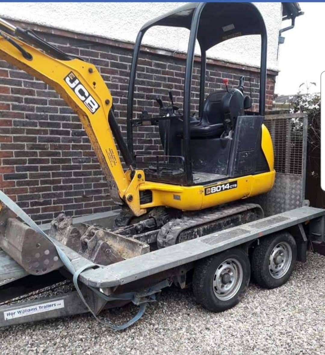 Nathan Woods JCB was stolen from his drive last week