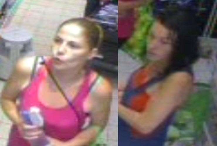 Police would like to speak to the women pictured in this CCTV image Picture: Kent Police