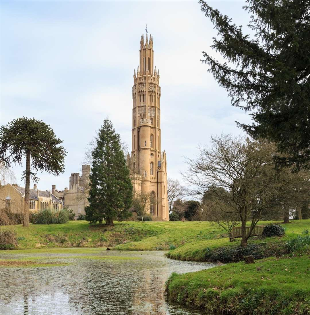 The world's tallest Gothic folly is being given away in a prize draw
