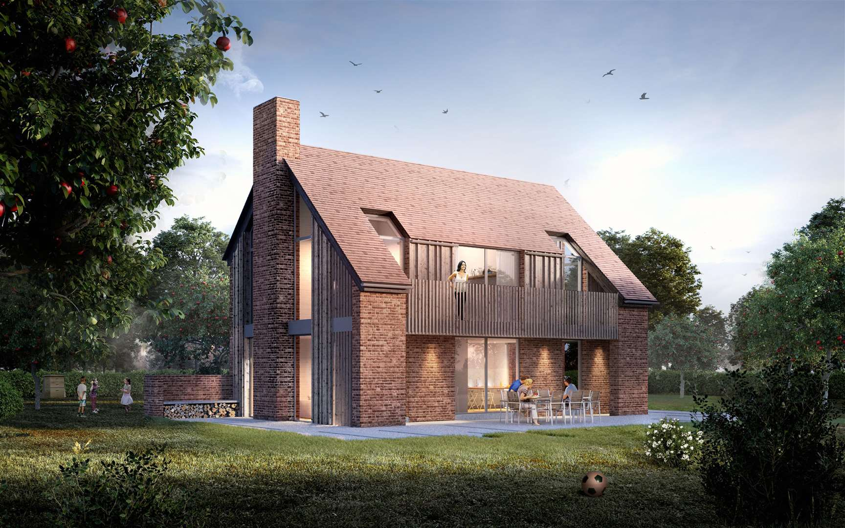 A holiday home of the type proposed at Highland Court Farm. Picture: Quinn Estates. (6860951)