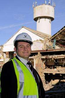 Essential Land Partner, Scott Hammond, at the site of the former paper mill in Milton Road, Sittingbourne.