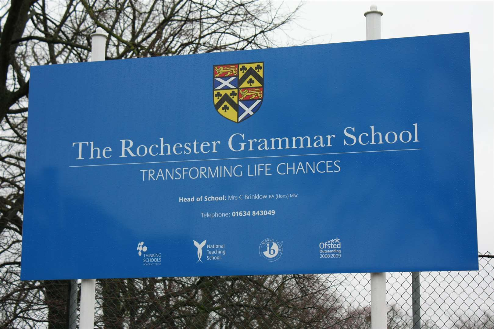 Rochester Grammar School has defended its decision