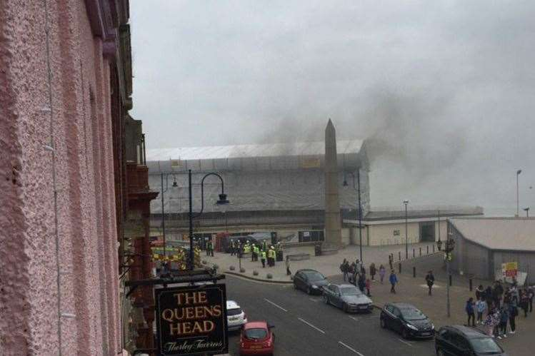 There was a fire at the site in April. Picture: @1965tommo