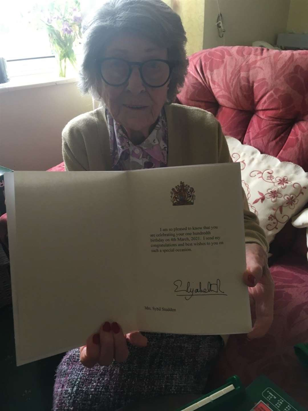 She has celebrated her 100th birthday. Picture: Lesley Grobler