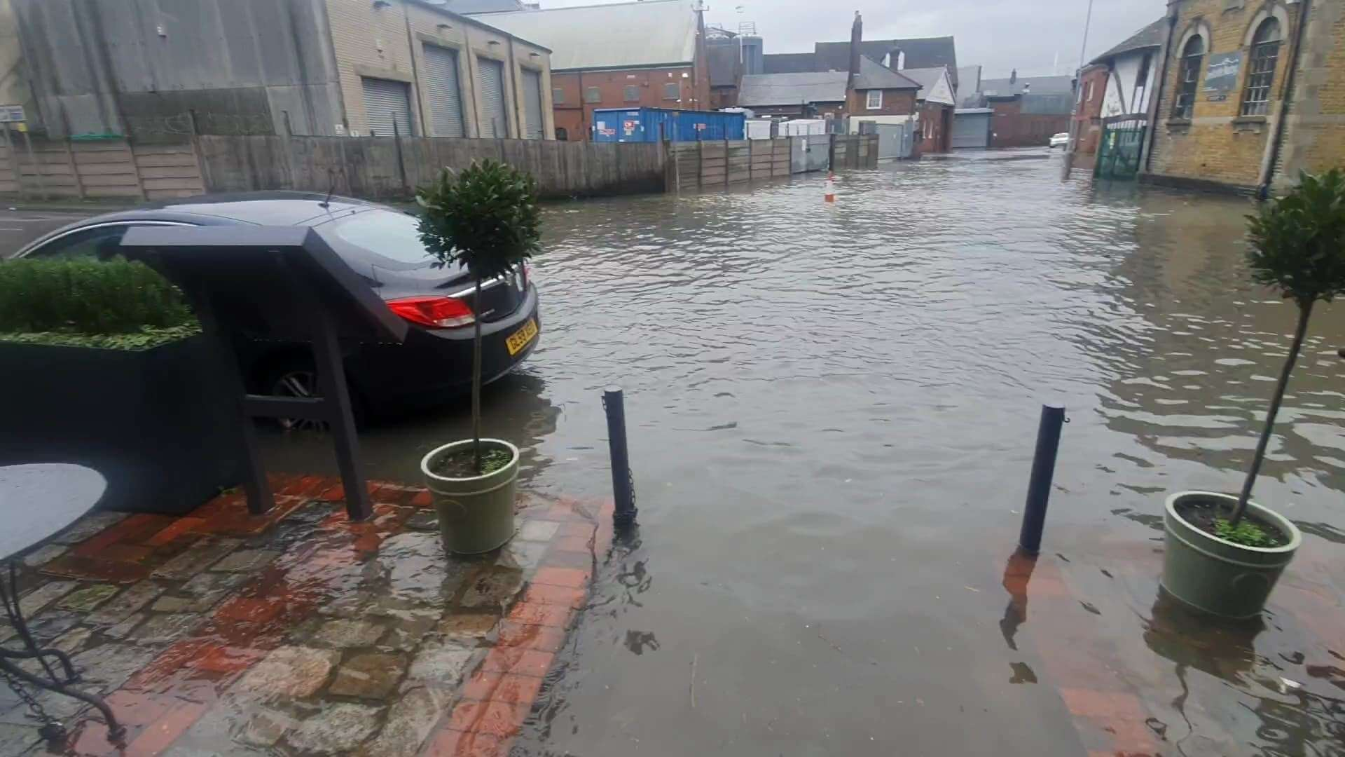Flooding in Faversham isn't irregular, but the tide today was very high