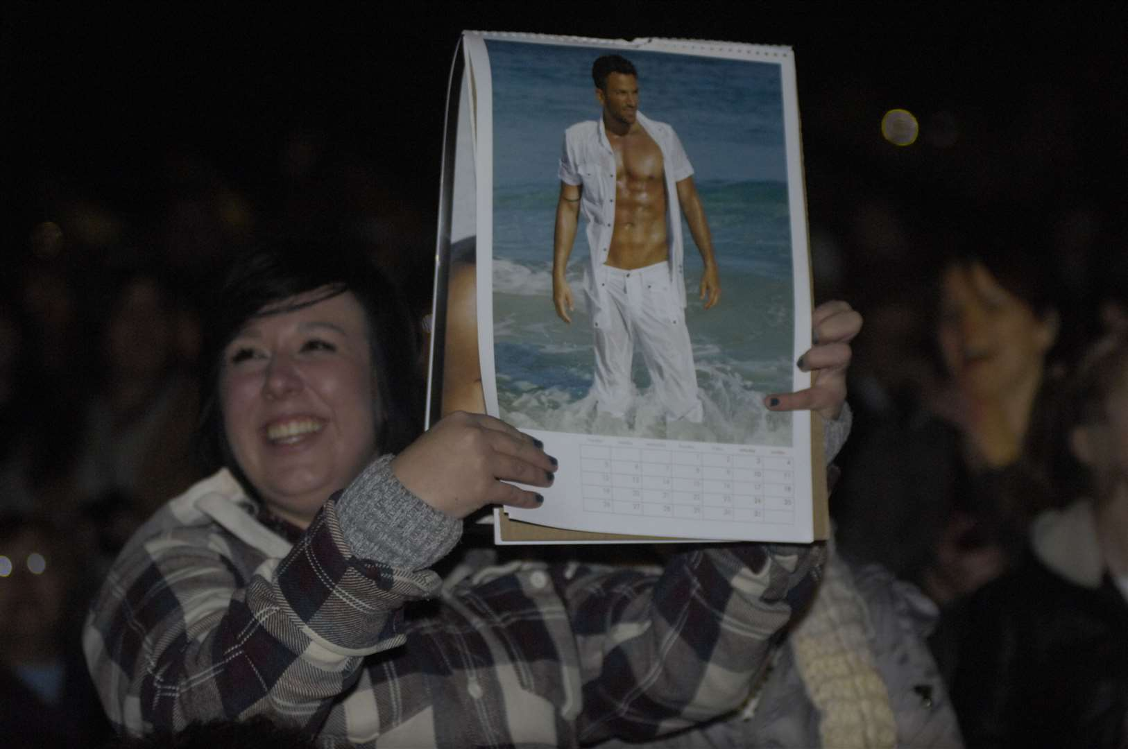 Fans were excited to see Peter Andre at the site in 2011