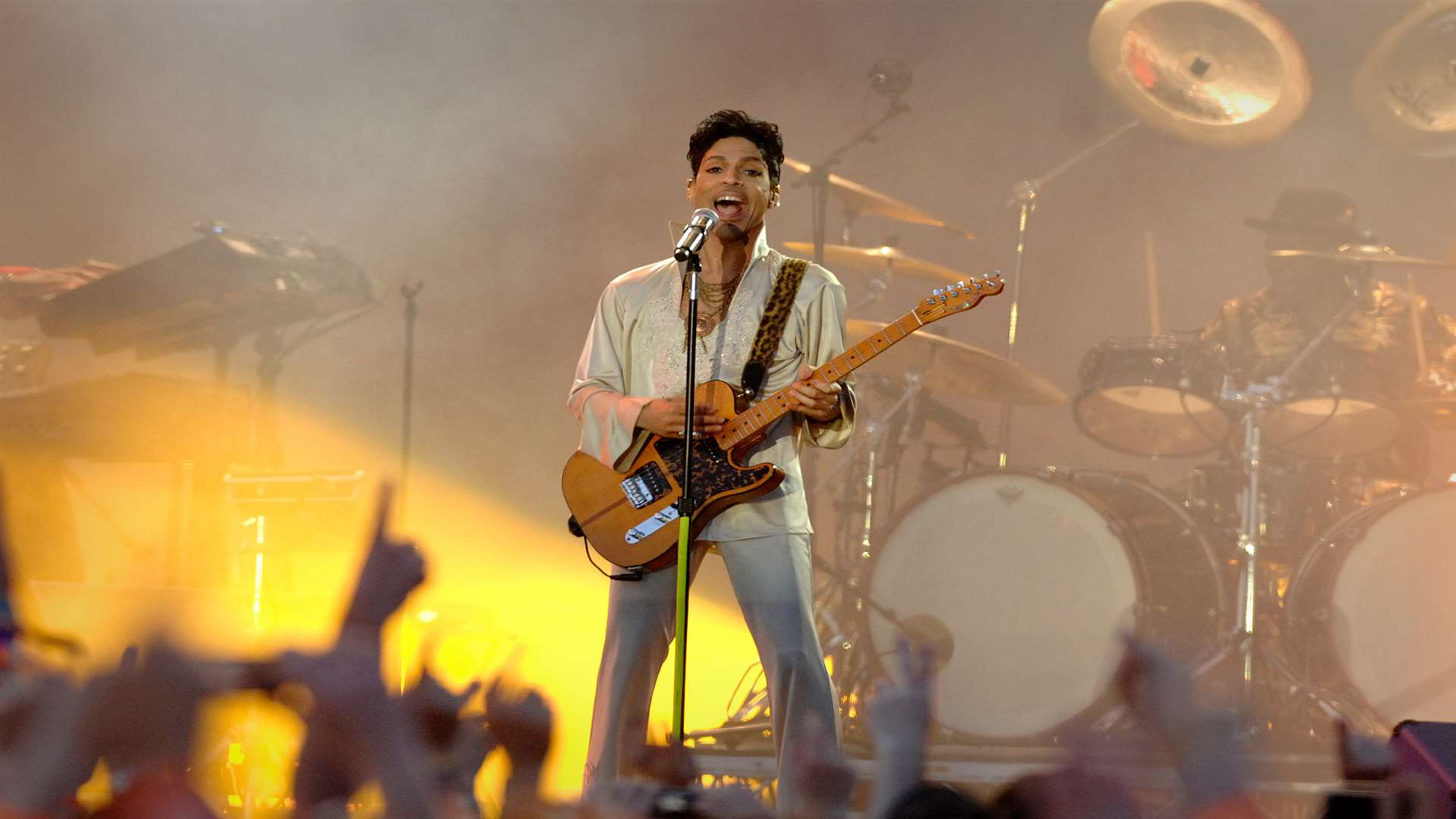 Prince headlines at the Hop Farm music festival Picture: Matthew Walker