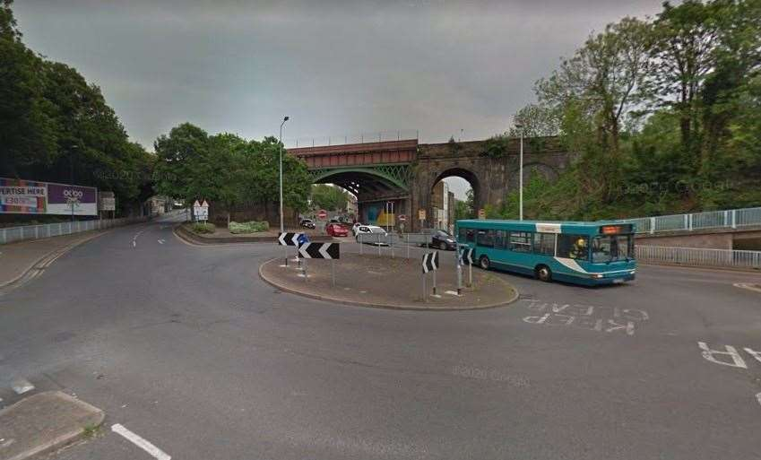 Police were called to the roundabout by the Luton Arches where a man was arrested following a crash. Picture: Google