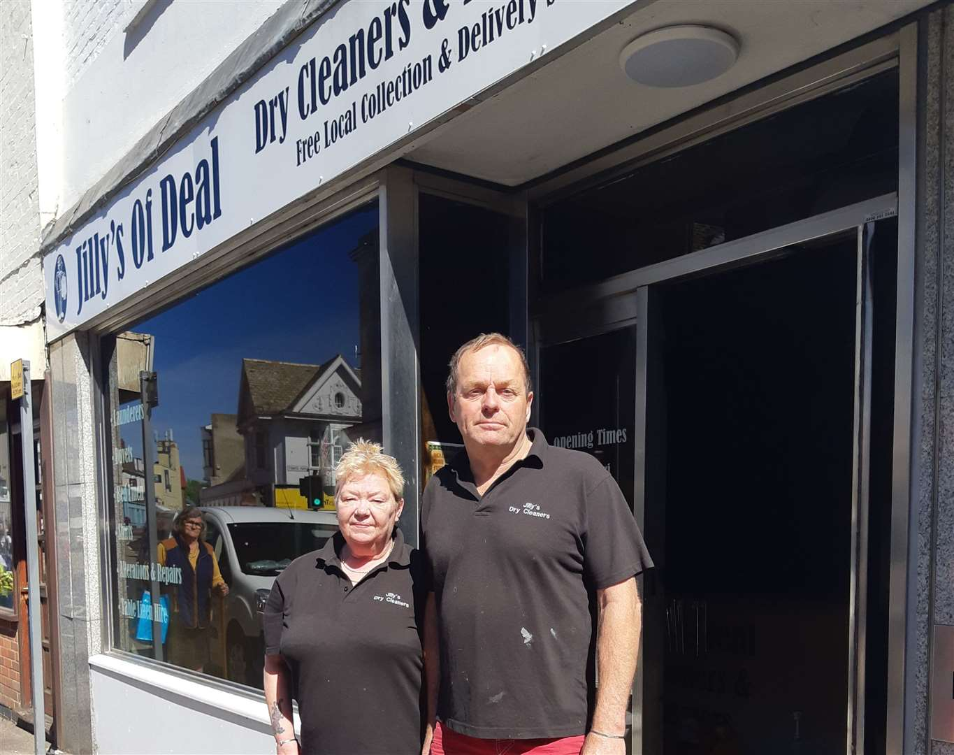 Jamie and Jilly Stenhouse say the clean-up operation is underway thanks to community support
