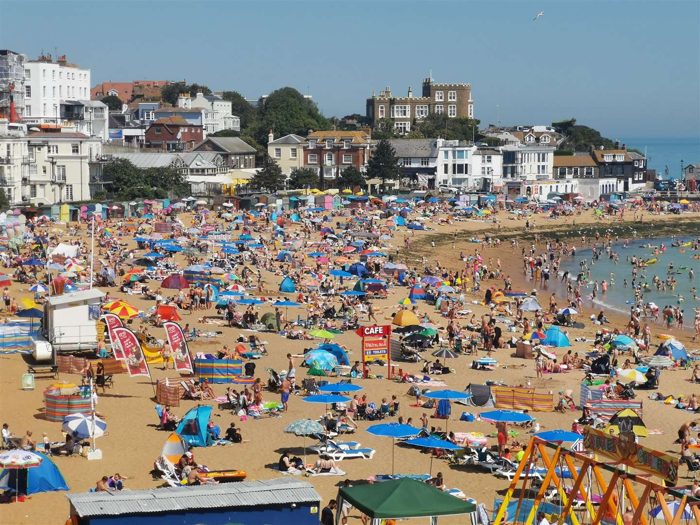 Several beaches in Margate and Thanet are already at capacity