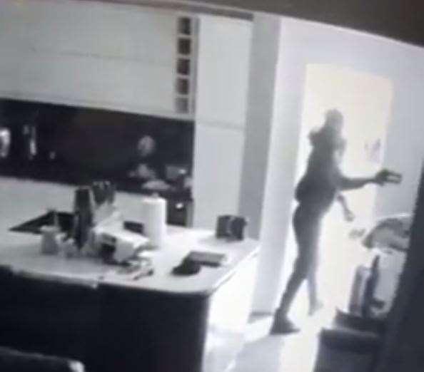 A burglar is caught on CCTV before stealing car keys  (22784979)