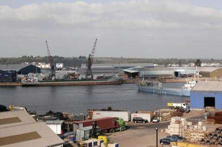Chatham Docks is the potential site for a major redevelopment, including homes and a superstore