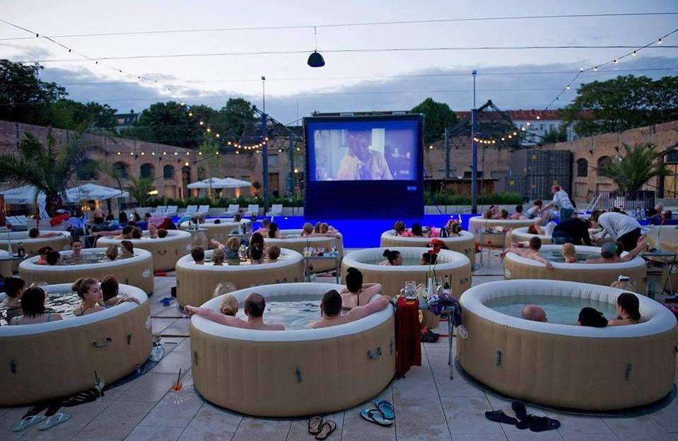 A hot tub cinema event is planned