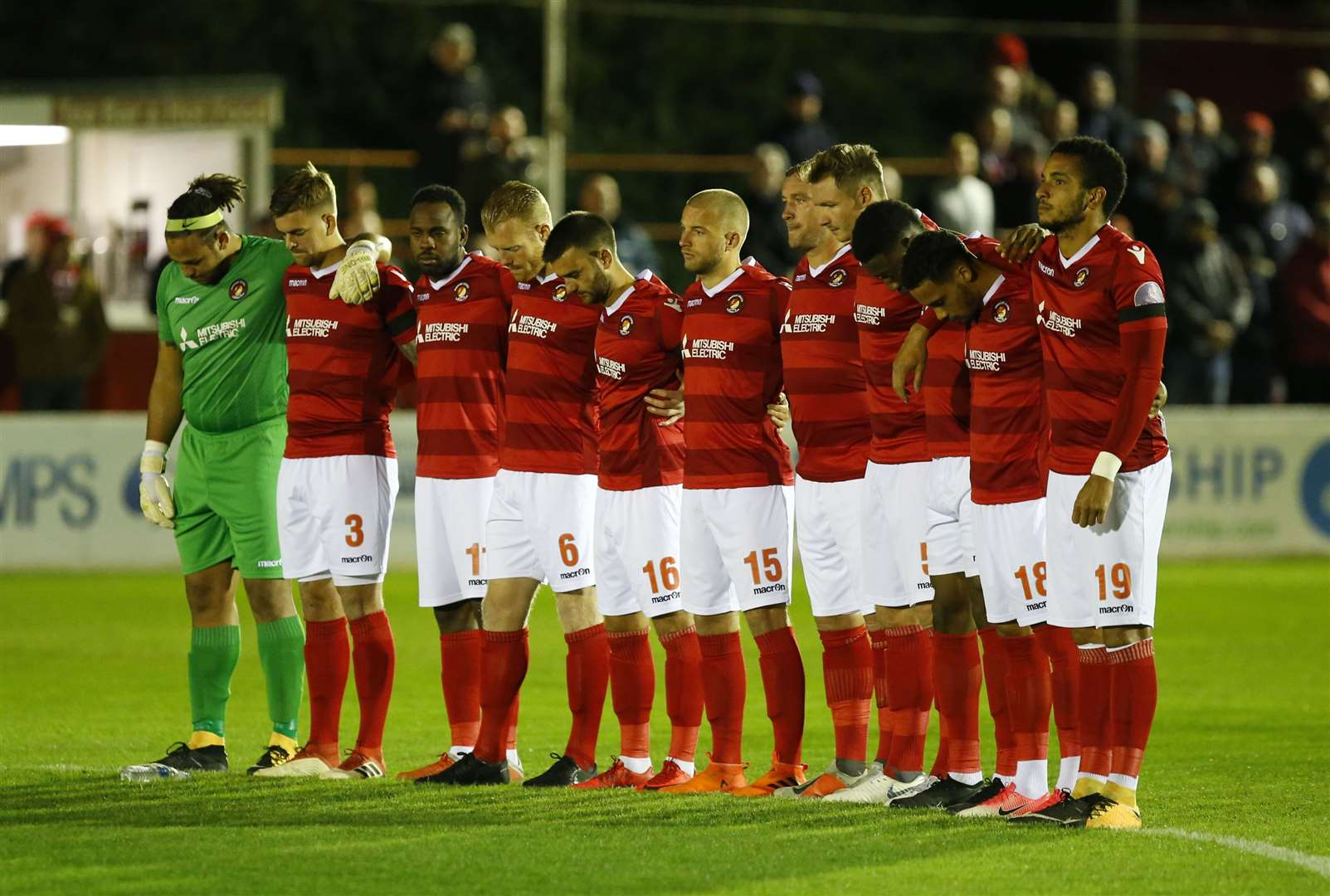 Ebou Adams (third from right) said Ebbsfleet's togetherness was crucial last season Picture: Andy Jones