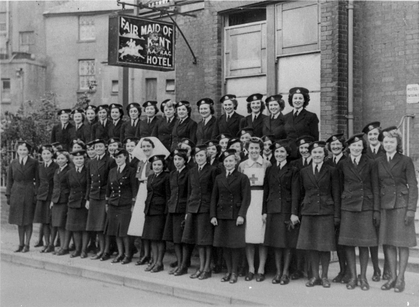 From 1941, even women had to join up. These are Royal Marine Wrens at Walmer