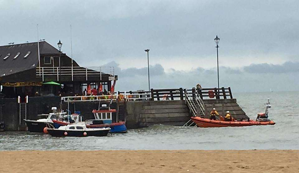 RNLI crews at the scene. Picture: Ruth Brackstone Bailey