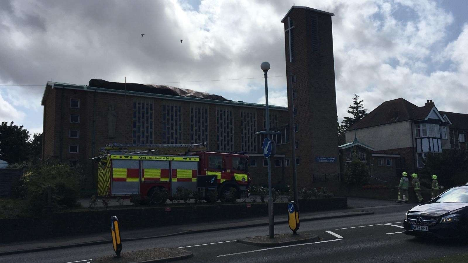 Firefighters were called to St Thomas of Canterbury church in Rainham (15044429)