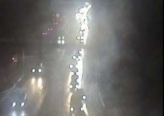 Traffic queuing after the crash on the M2. Picture: Highways England