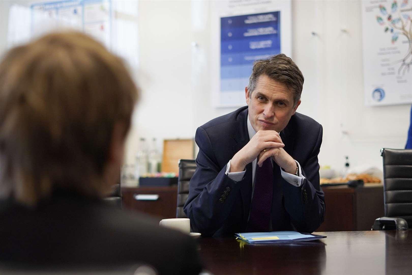 Education Secretary Gavin Williamson.  Photo: Wilmington Academy / Brandon Bail