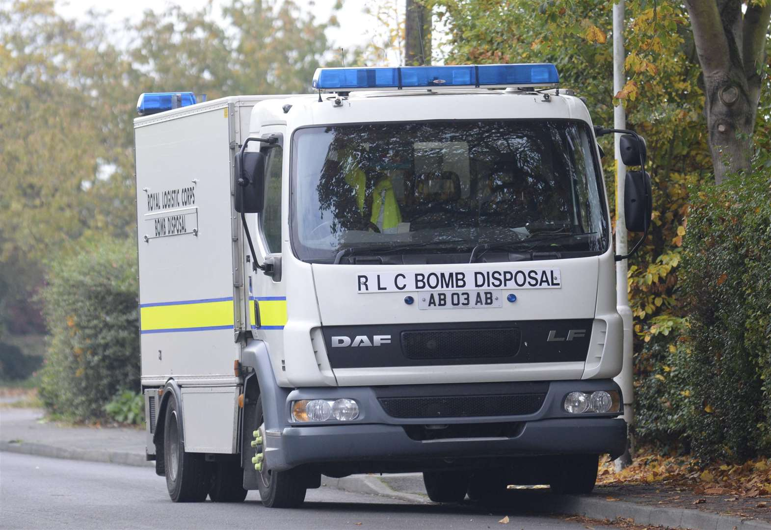 Bomb disposal teams search house