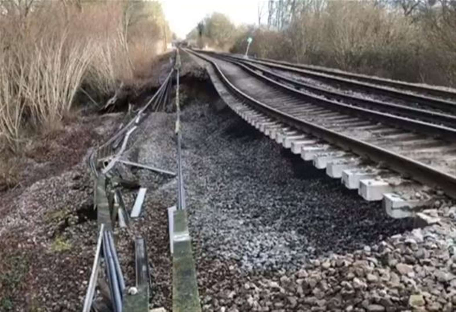 Bad news for passengers affected by landslip