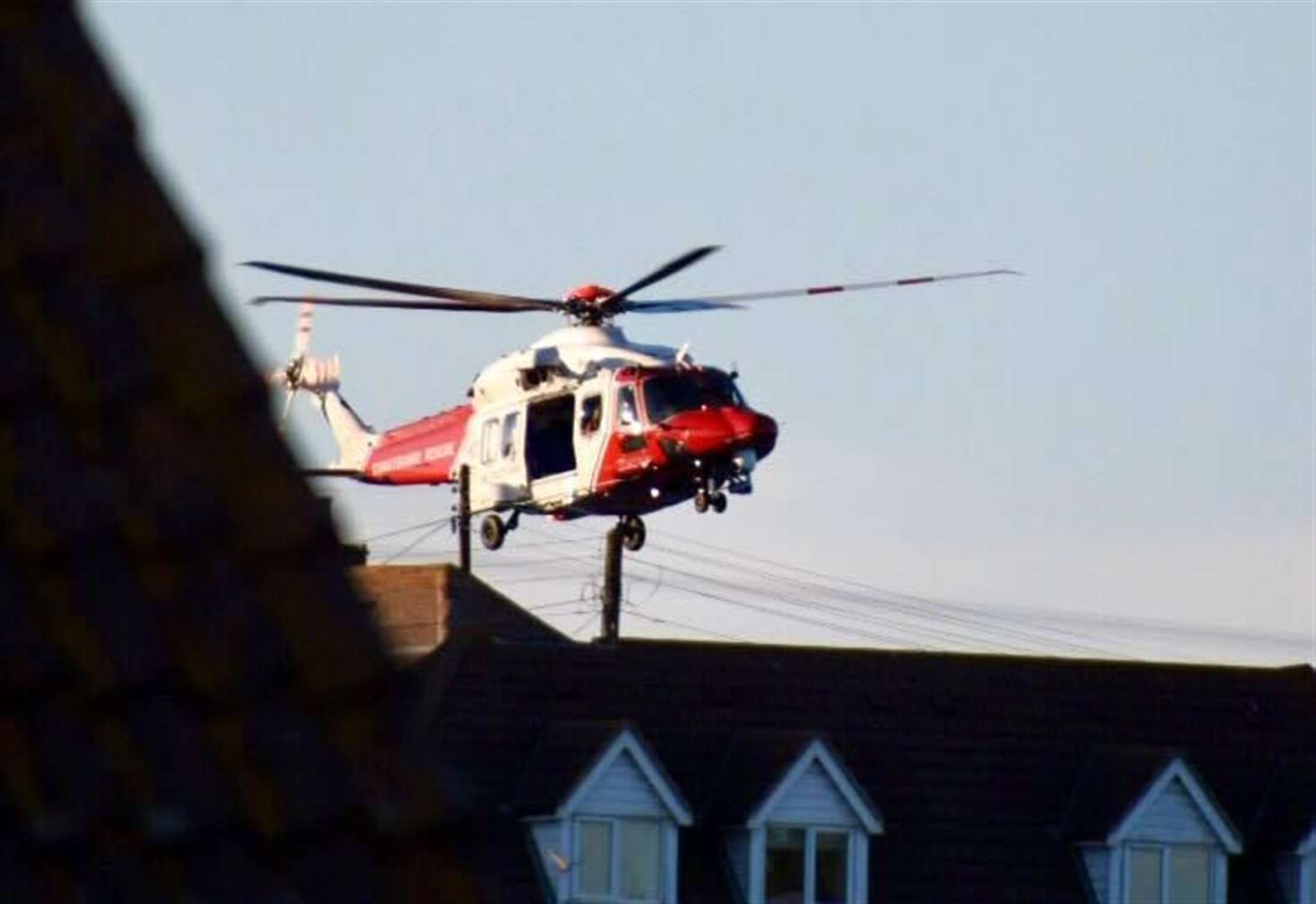Girl winched to safety after falling down cliffs