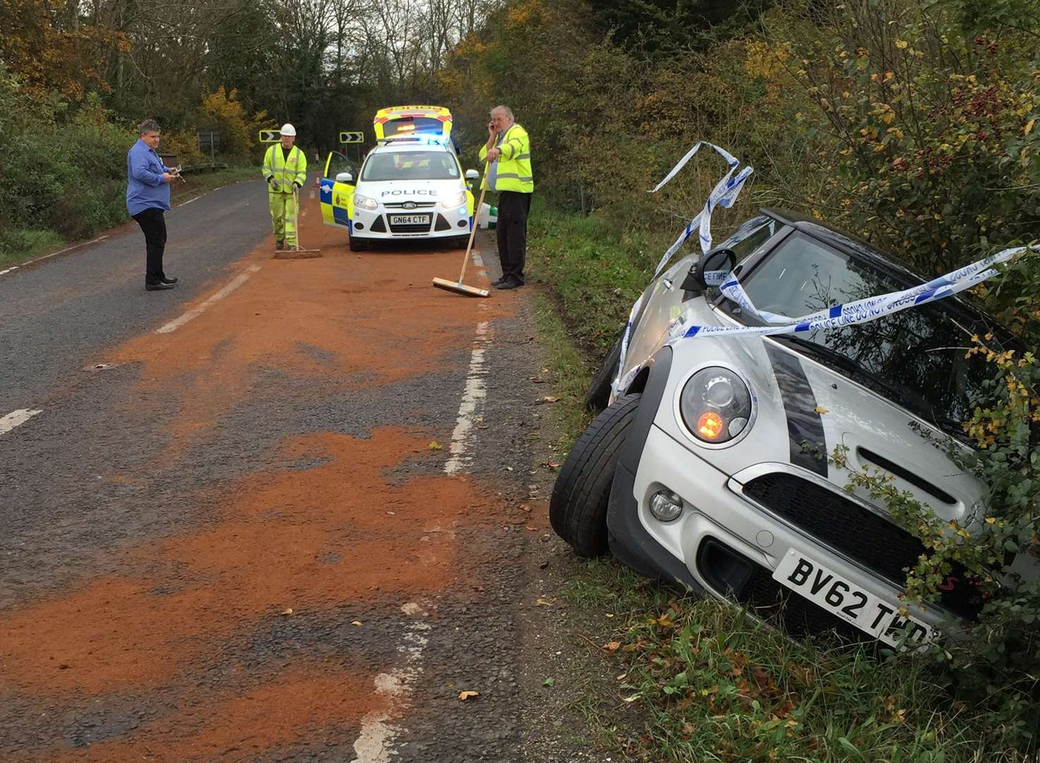 Lucky to be alive after car spins out of control