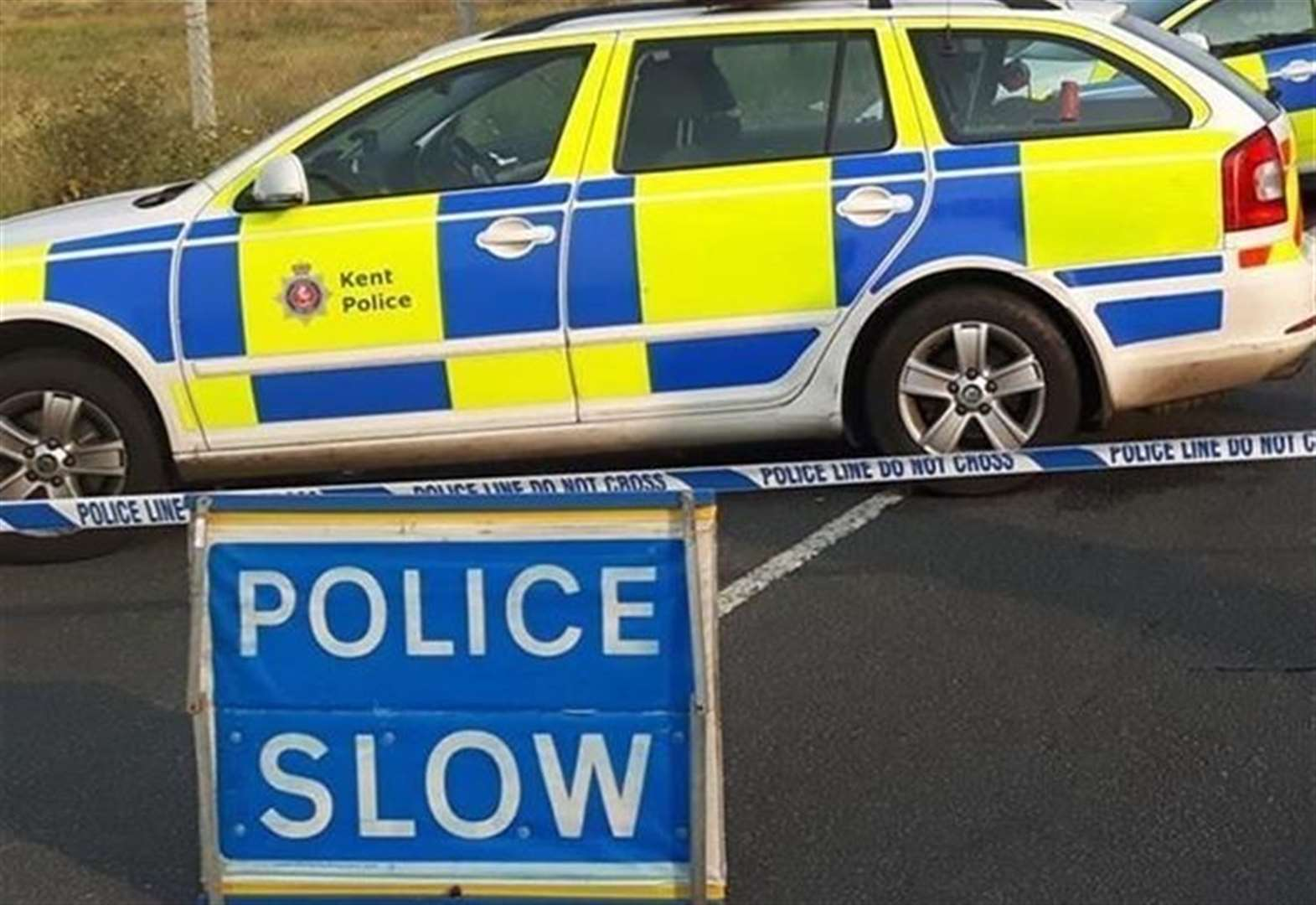 Three injured and road closed after crash